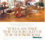 """You Can Take The Floor Out Of The Showroom."" Pattern-plus introduction to consumers. Client: Hartco Wood Flooring:"